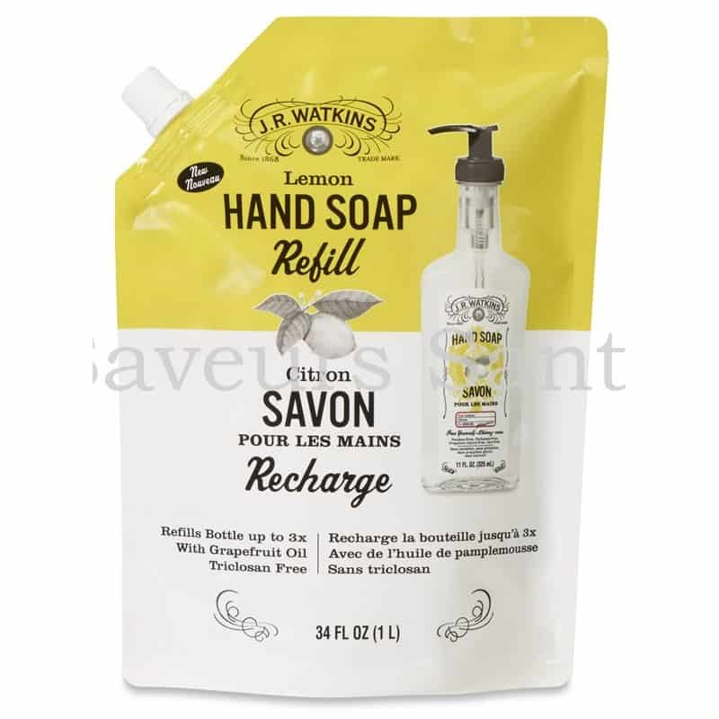 Recharge savon liquide pour mains citron