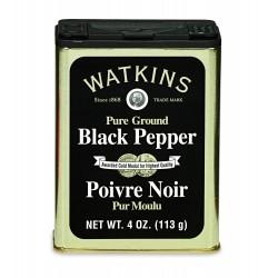 Poivre noir moulu watkins 113 gr