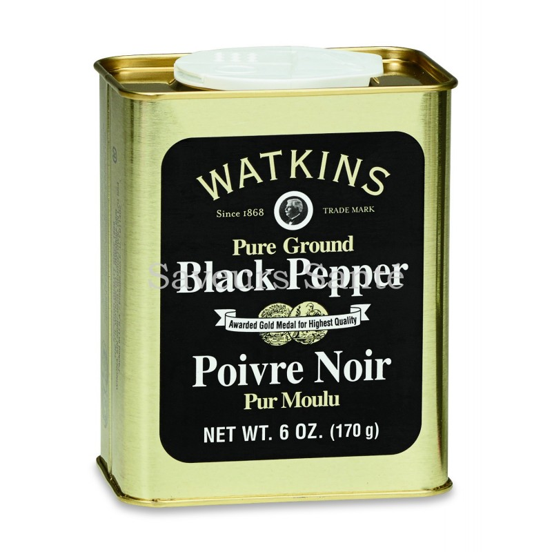 Black Pepper, Pure Ground, 6 Oz