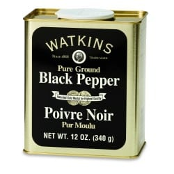 Poivres Noir moulu Pur - Grand Étain .