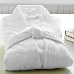 Robe de chambre Velours blanche