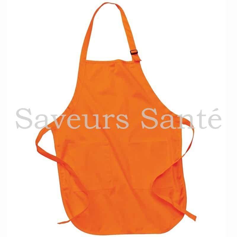 Tablier Orange 100% coton