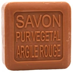 savon argile rouge Drainant BIO