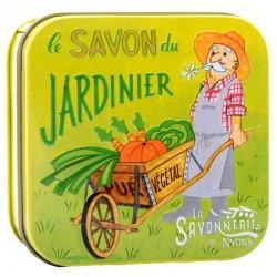 Savon du Jardinier Artisanal format 100g avec boîte vintage